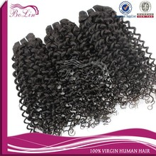 100% Real Brazilian Virgin Human Hair Extension, Jerry Curl Raw Unprocesse Hair Weft Brazilian Virgin Hair