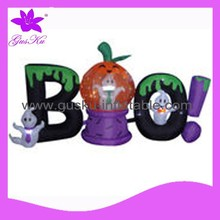 2015 Gus-LTHW-017 High quality Halloween decoration, inflatable ghost and pumpkin