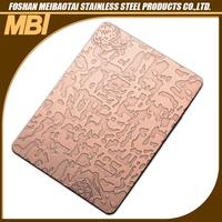 Etching stainless steel water-resistant bathroom wall panels