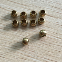 round brass beads 6mm hole size 3.5mm