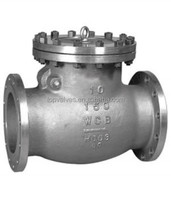 Swing check valve flanged end