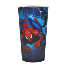 Single Wall Plastic Cup 3D Lenticular Plastic Cups Disposable Colored Plastic Cups
