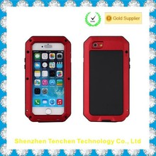 Metal Aluminum Shockproof Gorilla Glass Waterproof Case for IPhone 6