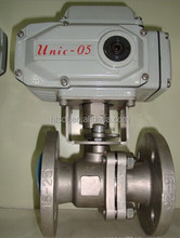Stainless steel DN150 ANSI Class 150 Flange electric Ball Valve With ISO Direct Mount Pad