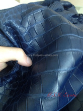 Genuine Siamensis Crocodile Belly Leather Hide Blue for Garment