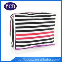 Stripes travelling bag,cosmetic bag,cosmetic case