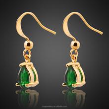ingrosso gioielli pera verde smeraldo tutti i tipi di giallo oro gp orecchini