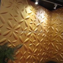 bily gold color green material wall covering for home decor