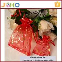Colorful OEM Cheap Reusable Folding Excellent Quality Promotional Printing Organza Gift Bag to Packaging