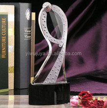 china crystal factory OEM crystal trophy achievement award