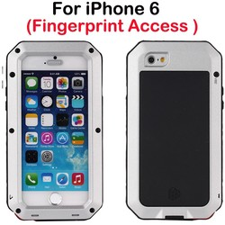 Cool Fashion christmas metal aluminum solar power cell phone case for iphone 6 with fingerprint access for custom
