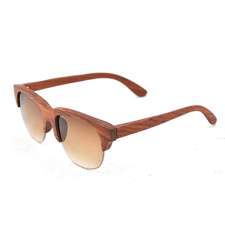 Recién llegado de madera medio marco gafas de sol sin montura, gafas ...