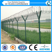 High Quality Y post Razor Barbed Airport security Fence