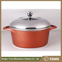 Cast aluminum no lampblack tempered glass cooking pot