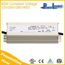 IP67 CE Approved Constant Voltage 60W 12V Led Driver