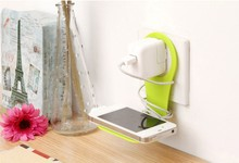 Colorful Wall Mount Hanging Bracket Stand Foldable Charging Wall Charger Holder