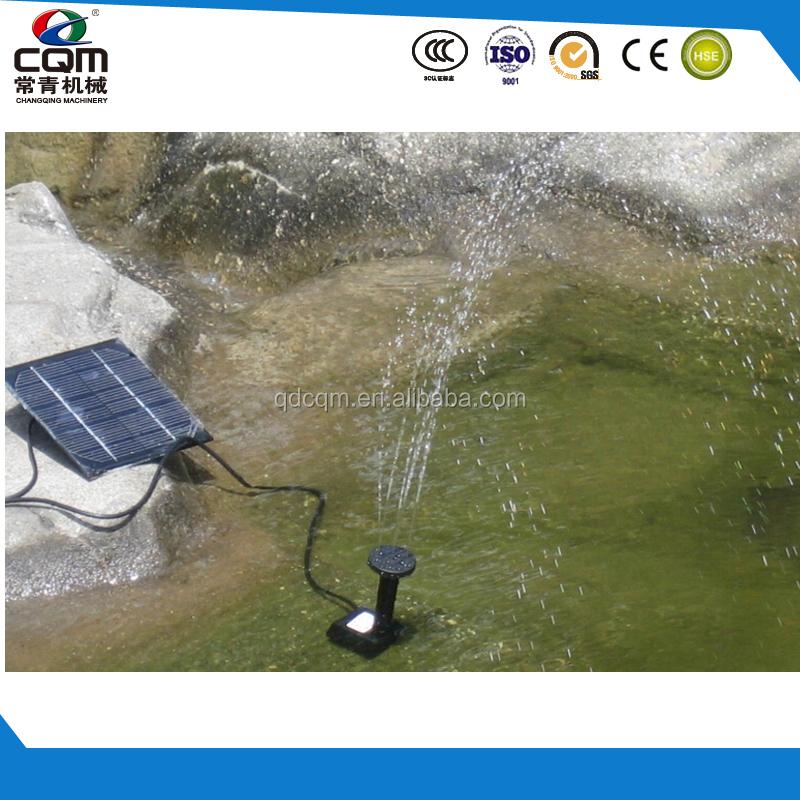 Solar water pump pond filtration pump powered by solar for Solar water filter for ponds