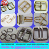 Hardware garment luggage accessories metal Stainless steel alloy iron copper button Square D 8 shape belt buckle with pin