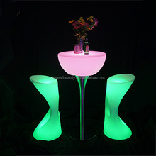 Modern Night Club High Gloss Water Proof Table Top High Bar Table,light up coffee table