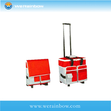 customized insulated trolley picnic cooler bag with wheels