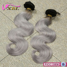 Human Hair Vendors Indian Remy Gray Hair Extension