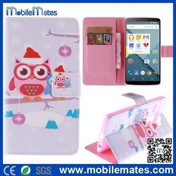 Cute Owls Pattern Wallet Stand Case for LG G4, TPU+PU Leather Case for LG G4, Card Holder Leather Case for LG G4