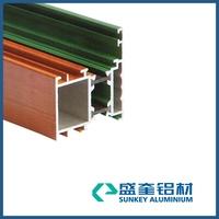 powder coating aluminum window section