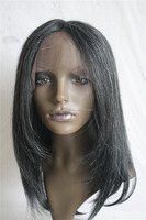 Factory Price Durable Hair Knots Human Hair Grey Lace Front Wig