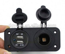 Cigarette lighter socket, panel mount power outlet 12 Volt Marine Motorcycle
