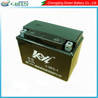 12v 4ah 6-MFQ-4 maintenance free motorcycle,Green Kaiyang best motorcycle battery brand,famous brand