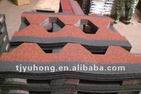 Asian Red color roofing shingles