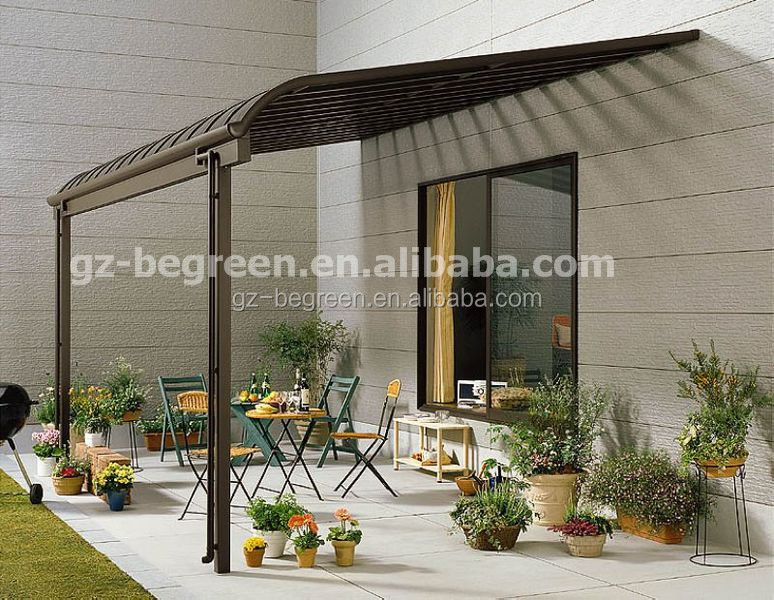 einfache installation polycarbonat terrasse abdeckung aluminium pergola pavillon. Black Bedroom Furniture Sets. Home Design Ideas