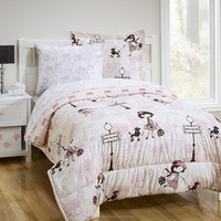 100%polyester micro fiber print bedding set for girls--super cute