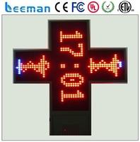 wooden cross stitch frame 3D led pharmacy cross led display 0.52 white