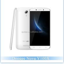 Very Cheap Cellphones 5.0''HD 1280*720 Doogee Y100X MTK6582 1.3GHz Quad Core Android 5.0 3G Smartphone Doogee Nova Y100X