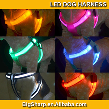 Hotsale colourful Dog Harness Flashing LED Dog Chest Straps Glow Pets Leads Collar Dog pet cat DH-2502