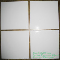 Low price absorbing water ceramic super white wall tile 150*150mm glossy