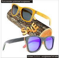 2015 sun glasses men polarized brand shwoods sunglasses skateboard frame fashion hot sale recycled skateboard sunglasses B026