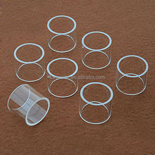 short cut frosted quartz glass tubing for smoking tube