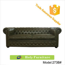 273B# new china product for sale italy real new model green leather sofa sets restaurant furniture