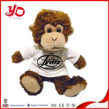 big monkey with white T-shirt, wholesale stuffed monkey toys, plush monkey toys
