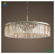 OGS-CL02R Large crystal chandelier iron chain suspension pendant light