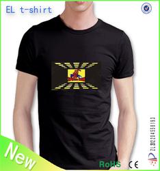 Hot selling tshirt manufacturer led t shirt wholesale make led t shirt