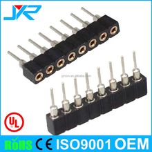 pitch 2.54*2.54mm single row round pin header 40pin DIP type crimp connector male and female