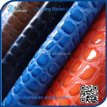 2015 high quality pvc artificial leather for bags made in china