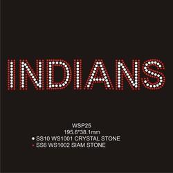 Unique INDIANS Sports Design Custm Heat Transfers Wholesale For T shirt