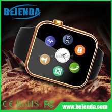 Gold Men Watch Smart Watch for Apple iPhone 6 5s 5C 5 Wristwatch for Samsung S4/S3/Note2/Note3 HTC Huawei Android Smartphone