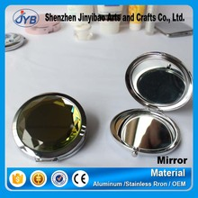 Small hand held metal framed crystal mirrors wholesale