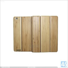 Newest in stock 3 folding bamboo tablet case for ipad 3