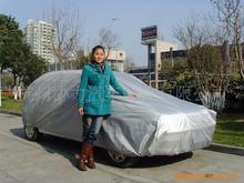 170T polyester coating silver fabric ,Hot selling protective covers for cars,four seasons general car cover for wholesales
